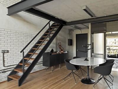 Лестницы лофт в интерьере