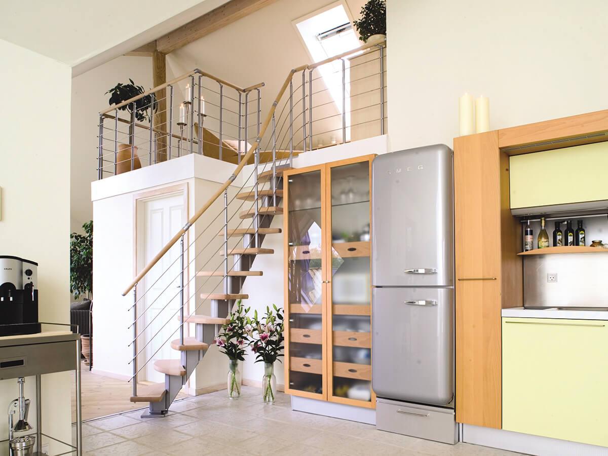 Междуэтажные лестницы по модульной технологии