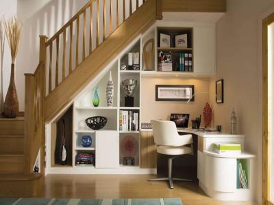 Простір під сходами: варіанти оформлення
