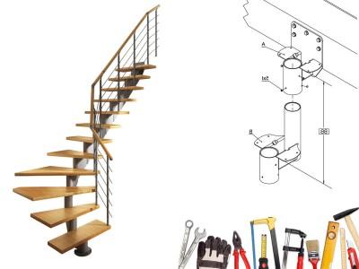 Как собрать модульную лестницу своими руками?
