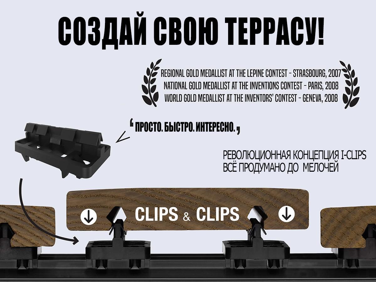Технологія i-CLiPS - терасові системи майбутнього