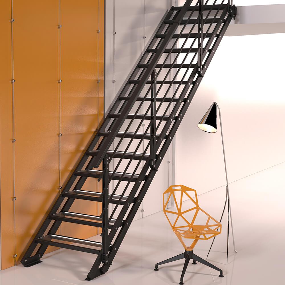 Модульная лестница DOLLE Alaska Антрацит
