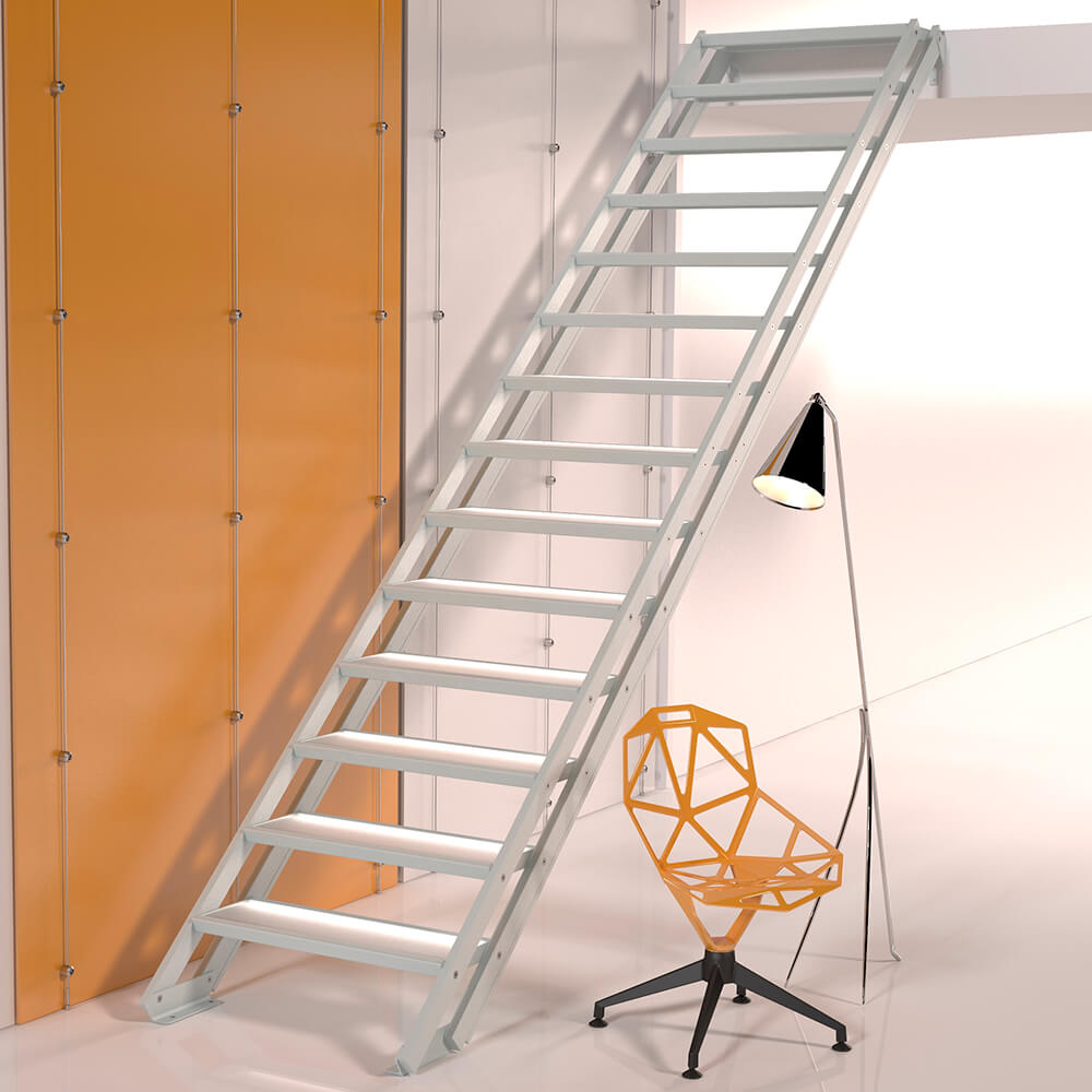 Модульная лестница DOLLE Alaska Серебро