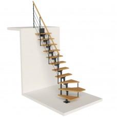 Модульная лестница DOLLE Boston Антрацит забежная