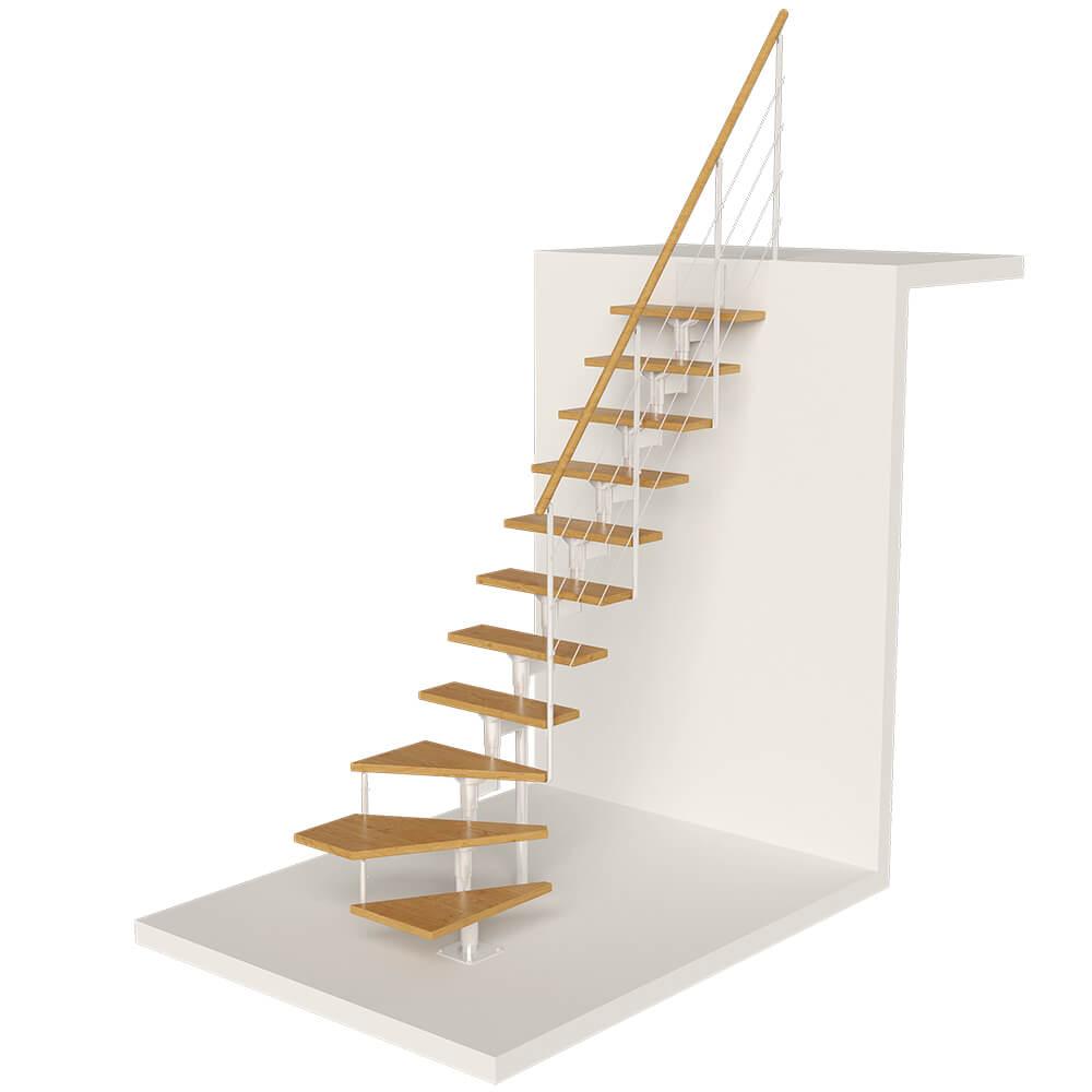 Фото Модульные лестницы с забежными ступенями DOLLE Boston