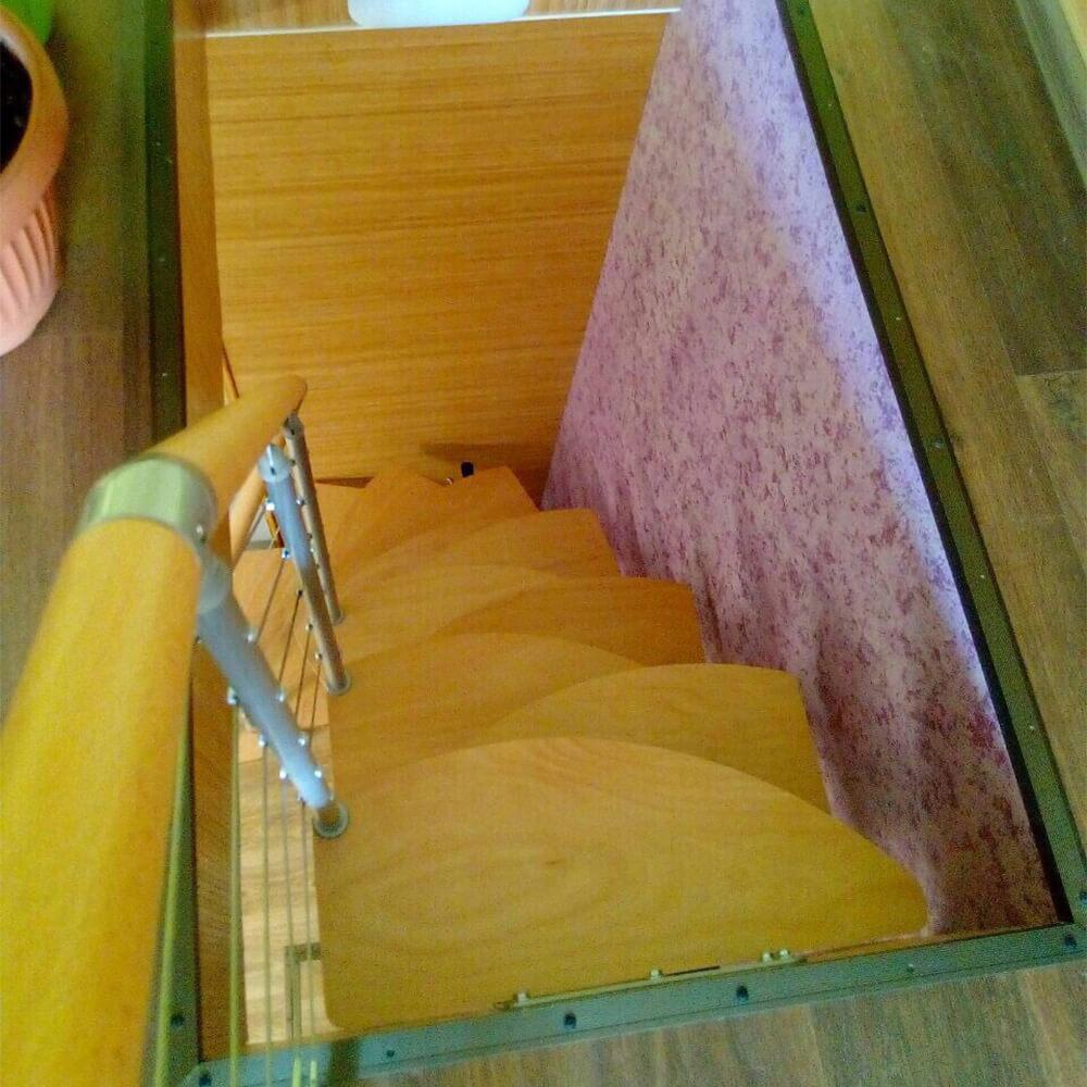 """Фото Модульная лестница DOLLE Rome ступени """"утиный шаг"""""""