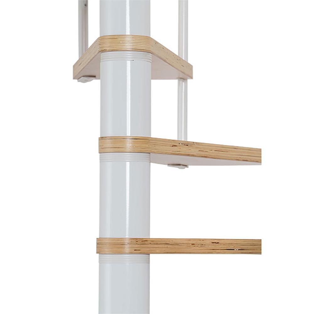 Комбинированная винтовая лестница DOLLE Calgary Белая