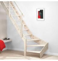 Деревянная лестница DOLLE Normandie забежная