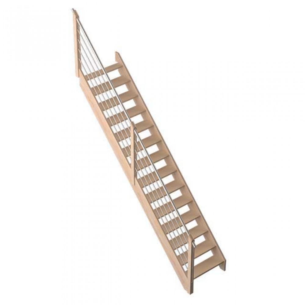 Фото Прямі дерев'яні сходи DOLLE Savoie M