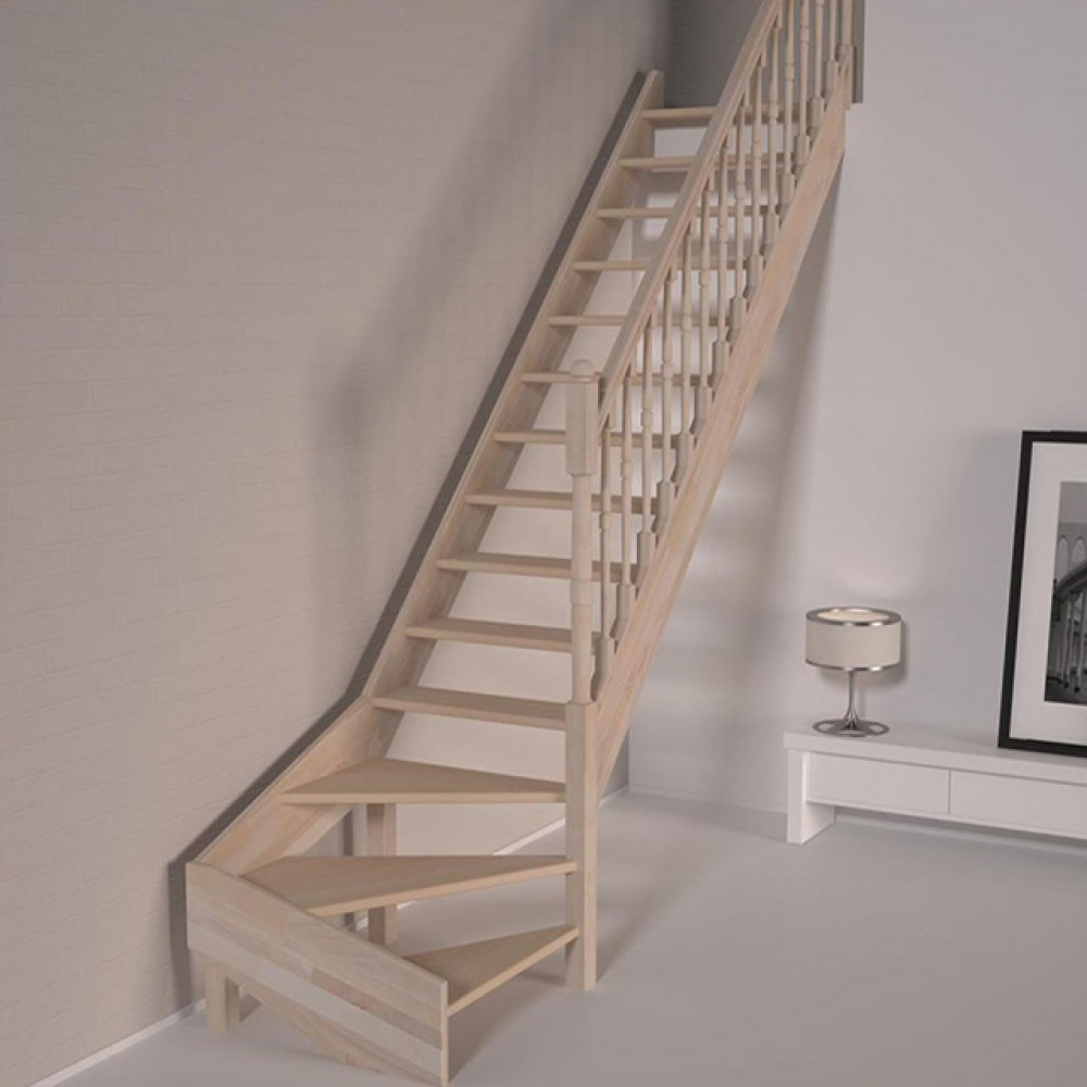 Деревянная лестница DOLLE Savoie T забежная