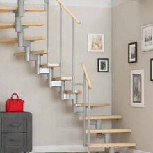 фото Модульная лестница для загородного дома