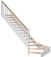 фото Поворотная лестница для дачи