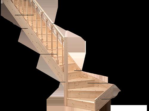 Схема основных элементов лестницы