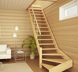 фото Лестница из дерва на заказ