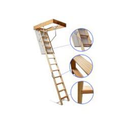 фото Горищні сходи з дерева