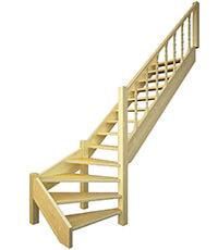 Фото Сходи з забіжними ступенями