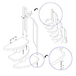 Как собрать балюстраду модульной лестницы