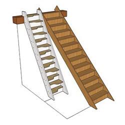 Фото: Сравнение мотыльковой лестницы