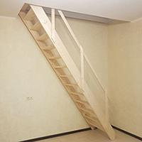 Бюджетная деревянная лестница
