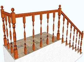 фото Ограждение для лестницы из дерева