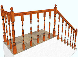 фото Огородження для сходів з дерева