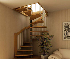 Фото Винтовая лестница на мансарду